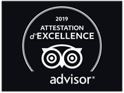 Attestation d'excellence Tripadvisor Fragonard 2017