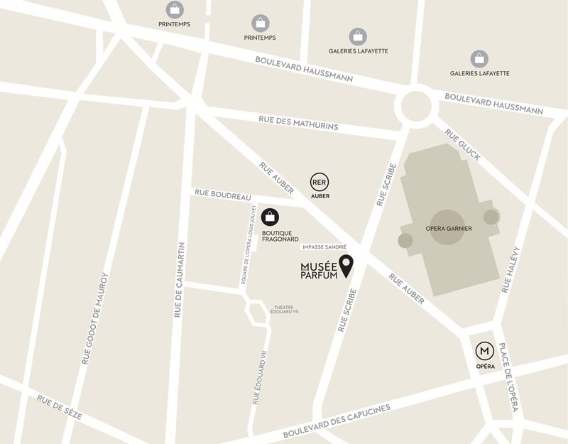 Plan Musée du Parfum Paris Opéra Garnier